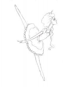 Балерины раскраски (8)