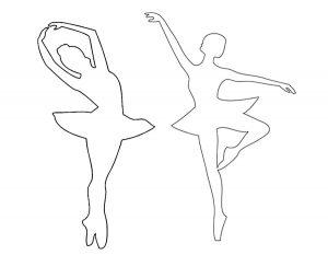 Балерины раскраски (9)