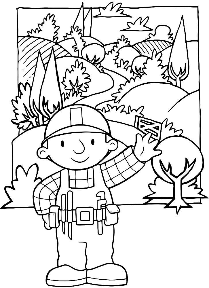 Боб строитель картинки раскраски (12)