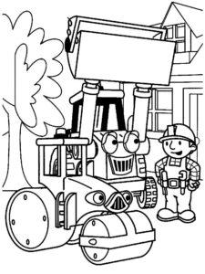 Боб строитель картинки раскраски (16)