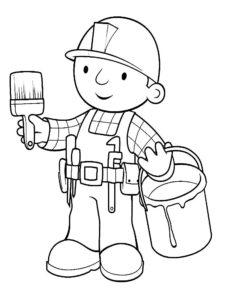 Боб строитель картинки раскраски (17)