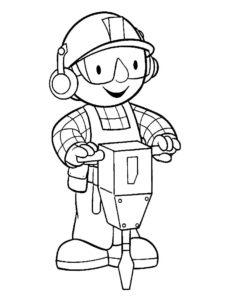 Боб строитель картинки раскраски (19)