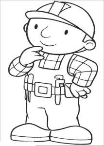 Боб строитель картинки раскраски (20)