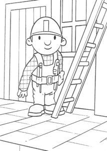 Боб строитель картинки раскраски (27)