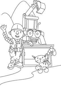 Боб строитель картинки раскраски (31)
