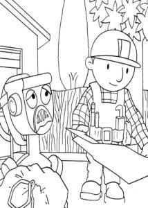 Боб строитель картинки раскраски (32)