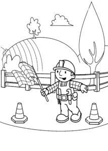 Боб строитель картинки раскраски (35)