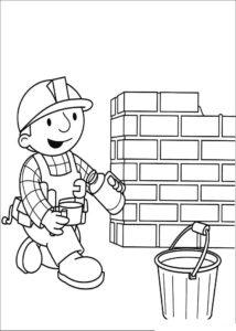 Боб строитель картинки раскраски (37)