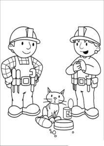 Боб строитель картинки раскраски (39)