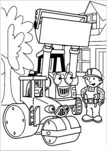 Боб строитель картинки раскраски (42)