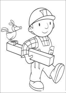 Боб строитель картинки раскраски (44)