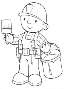 Боб строитель картинки раскраски (45)