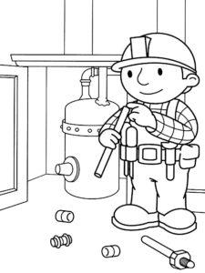 Боб строитель картинки раскраски (47)