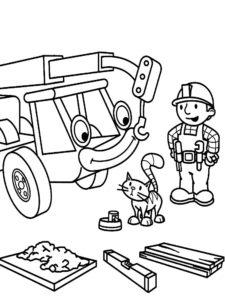 Боб строитель картинки раскраски (49)