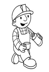 Боб строитель картинки раскраски (5)