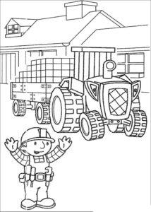 Боб строитель картинки раскраски (53)