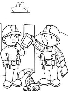 Боб строитель картинки раскраски (54)