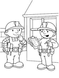 Боб строитель картинки раскраски (55)