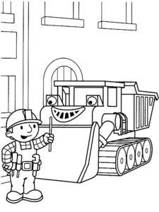 Боб строитель картинки раскраски (58)