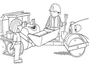 Боб строитель картинки раскраски (8)