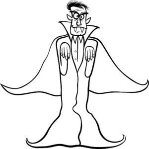 Вампир картинки раскраски (13)
