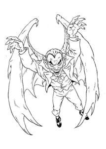 Вампир картинки раскраски (2)