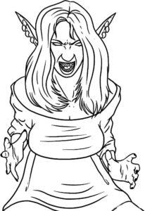 Вампир картинки раскраски (20)
