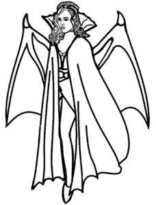Вампир картинки раскраски (26)
