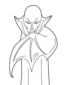 Вампир картинки раскраски (30)