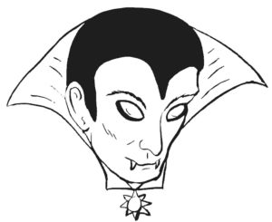 Вампир картинки раскраски (31)