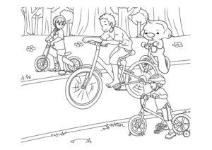 Велосипед картинки раскраски (1)