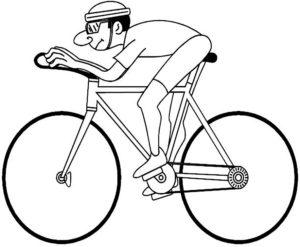 Велосипед картинки раскраски (10)