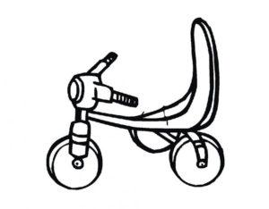 Велосипед картинки раскраски (11)