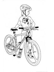 Велосипед картинки раскраски (12)