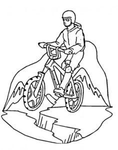 Велосипед картинки раскраски (13)
