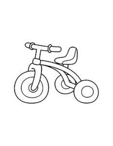 Велосипед картинки раскраски (14)