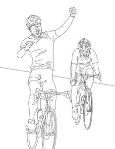 Велосипед картинки раскраски (15)