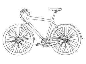 Велосипед картинки раскраски (16)