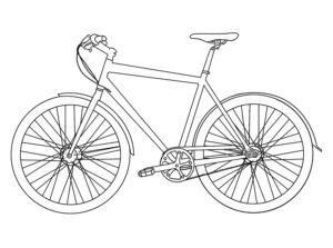 -картинки-раскраски-16-300x223 Велосипед