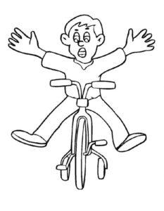 Велосипед картинки раскраски (17)