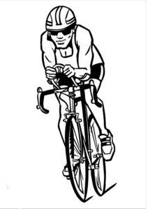 Велосипед картинки раскраски (18)