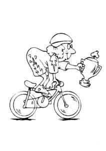Велосипед картинки раскраски (19)