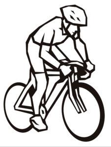 Велосипед картинки раскраски (2)