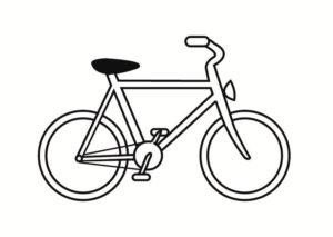 Велосипед картинки раскраски (20)