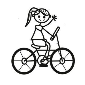 Велосипед картинки раскраски (23)