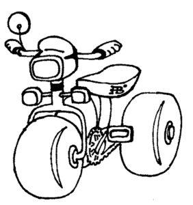 Велосипед картинки раскраски (24)