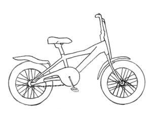 Велосипед картинки раскраски (25)
