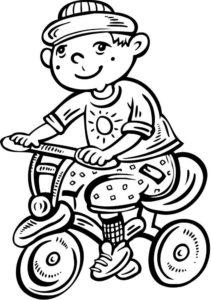 Велосипед картинки раскраски (26)