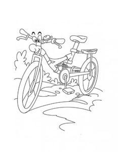 Велосипед картинки раскраски (27)