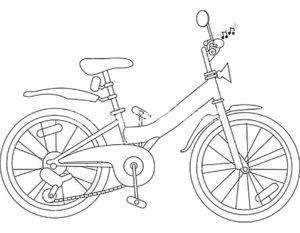 Велосипед картинки раскраски (29)